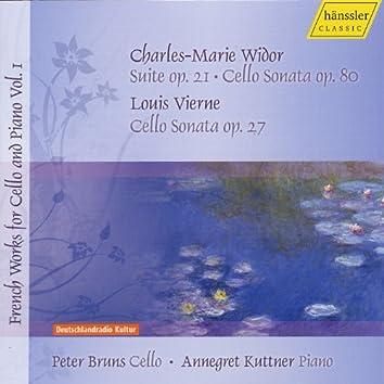 Widor, C.-M.: Cello Sonata / 3 Pieces / Vierne, L.: Cello Sonata (Bruns) (French Works for Cello and Piano, Vol. 1)