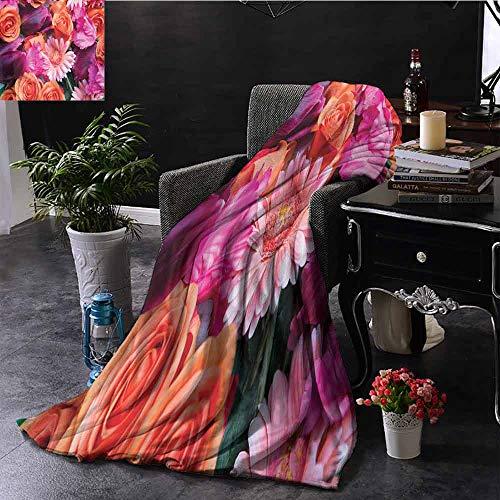 GGACEN Stoel Deken Kleurrijke Gradient Hibiscus Bloesem Bloemen Eenvoudige Bloemen Ombre Effect Kunst Comfortabel Zacht Materiaal, geven u Grote Slaap