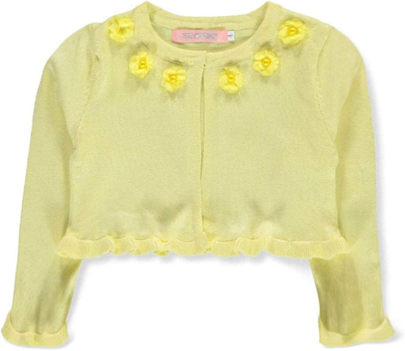 Pink Butterfly Girls Flower and Pearl Knit Shrug