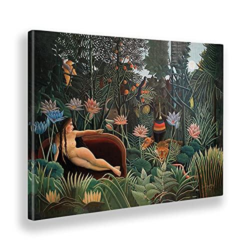 Giallobus - Quadro - Henri Rousseau - Il Sogno - Tela Canvas - 100x70 - Pronto da Appendere - Quadri Moderni per la casa