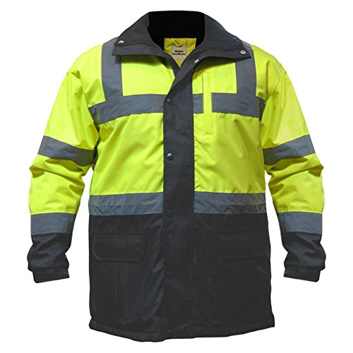Utility Pro Hi-Vis Contractor Safety Jacket, Lime/Black, 4X-Large
