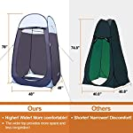 """Leader Accessories Pop Up Shower Tent Dressing Changing Tent Pod Toilet Tent 4' x 4' x 78""""(H) Big Size 4"""