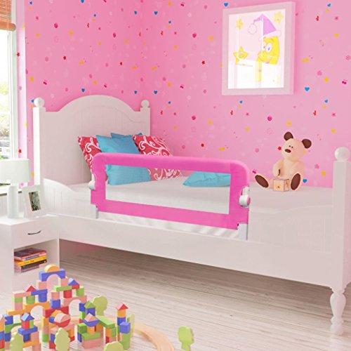 Festnight Kinder Bettgitter Bettschutzgitter 103cm für alle Kinderbetten, Einzelbetten, Doppelbetten 103x42cm Rosa