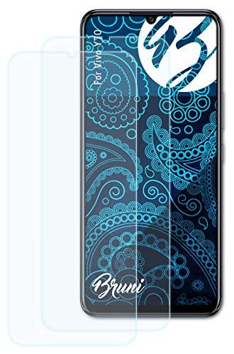 Bruni Schutzfolie kompatibel mit Vivo Y70 Folie, glasklare Bildschirmschutzfolie (2X)