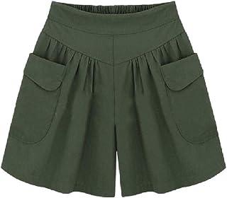 SportsX Women Oversized Shorts Chop Pocket Elastic Wide Leg Panties