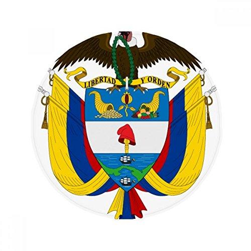 DIYthinker Emblema Nacional de Colombia país Antideslizante Alfombra Pet Redonda baño salón Cocina Puerta 80cm Regalo