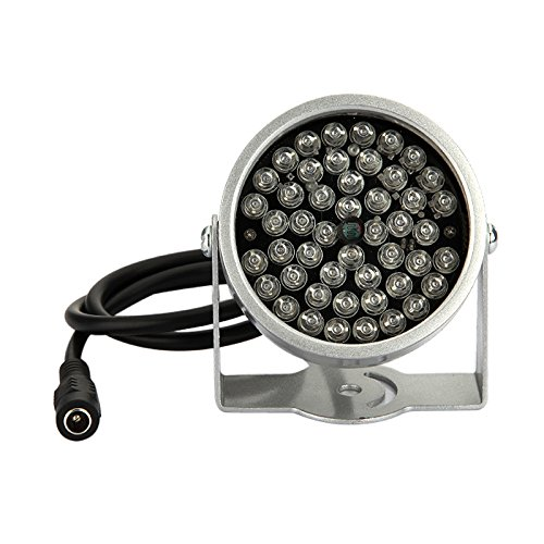 TOOGOO(R)) 2 Stueck 48 LED Illuminator Licht CCTV-IR Infrarot-Nachtsicht-Lampe Fuer ueberwachungskamera