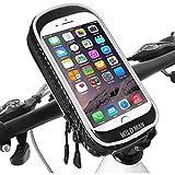 Support Téléphone Velo étanche Universel Support Téléphone Moto avec Toucher Sensible Support Smartphone VTT Guidon pour iPhone XS Max/XR/Samsung Note 9/Huawei P30 Pro/P40 Pro (Jusqu'à 6,6 Pouce)