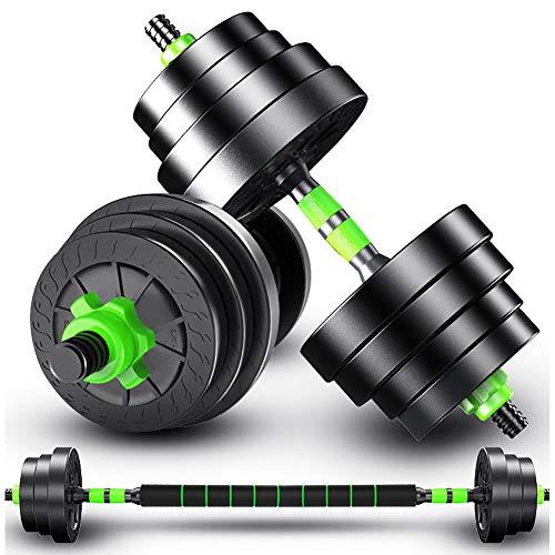 BCBIG Premium Hanteln, 2In1 Innovatives Hantelset, Kurzhanteln & Langhantel in Einem, Hanteln Kurzhanteln 2Er Set, Lang- Kurzhantel Hantel Set, (Barbell-Satz Hantel Set),Two Weights,30 kg
