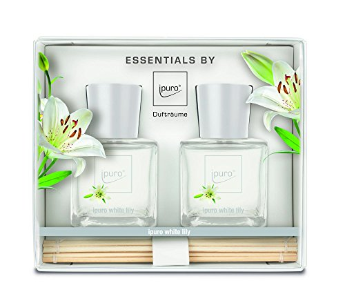 ipuro ESSENTIALS Geschenkset Raumduft white lily, 1er Pack (2 x 50 ml)