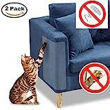 Treeshu Protector para sofá Scratch para Mascotas, Protectores contra Arañazos para Muebles, Protectores contra Garras para Gatos Cat para Mascotas de Vinilo Transparente (Paquete de 2)