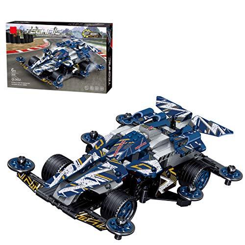 PARIO Juego de 360 piezas de coche retractor, juego de construcción 4 WD Pull Back Car MOC para minifiguras de juguete de construcción compatible con Lego