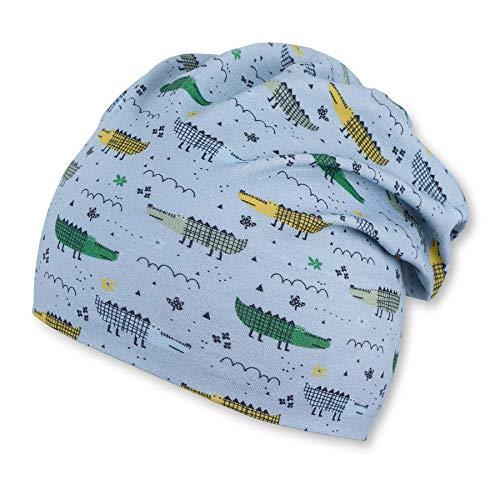 Sterntaler Baby-Jungen Stirnband Beanie-Mütze, blau, 49