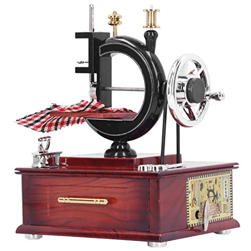 SALUTUYA Caja de música para máquina de Coser Caja de música de manivela, Caja de música para Coser a Cuerda, Caja de música para máquina de Coser, para Regalos para decoración del hogar