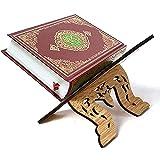 Eid Al-Fitr - Estante de madera para libros islámicos con marco de la Biblia Kurán Corán Corán Corán Sagrado Libro Soporte Soporte Rehal Islam Decoración del Hogar