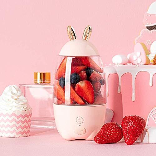 Qinmo Máquinas exprimidor, jugo exprimidores de cocina creatividad Mini Mini Blender Blender personal 330ML fruta for el hogar al aire libre recargable Taza de la fruta del mezclador Máquina