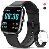 AIMIUVEI Smartwatch, Orologio Fitness Tracker Uomo Donna Activity Tracker Impermeabile Bluetooth Smart Watch Contapassi Cardiofrequenzimetro da Polso Pressione Sanguigna Smartband iOS Android