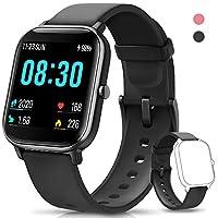 【Il tuo one-pick smartwatch】- Utilizza leghe di zinco di alta qualità, crea uno smartwatch elaborato e distinto. È personalizzabile in tutto e per tutto: Ha 264 sfondi di diverse interfacce principali e 2 cinturini morbidi in silicone di fascia alta ...