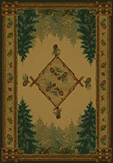 United Weavers: Genesis: Forest Trail: Lodge 130-51043 : 1'10''X3' Rectangle