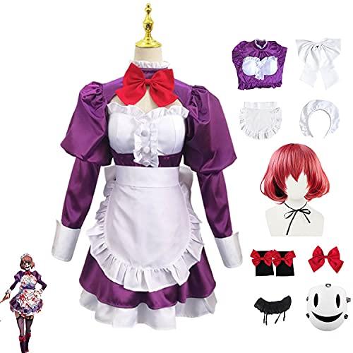 Disfraz de Cosplay de invasin de gran altura, traje de mucama, uniforme escolar de anime, traje de marinero, conjunto completo, vestido de fiesta de Carnaval de Halloween para mujeres