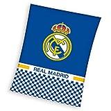 Real Madrid CF - Manta Polar Cuadros Real Madrid 110 x 140 cm.
