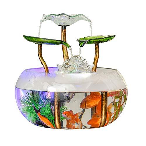 PULLEY Botella ecológica de escritorio para pecera – Creative Glass Living Room Mini Lazy Goldfish Tank Acuario Decoración para el hogar (28 x 28 x 28 cm) (color : modelos de humidificador)
