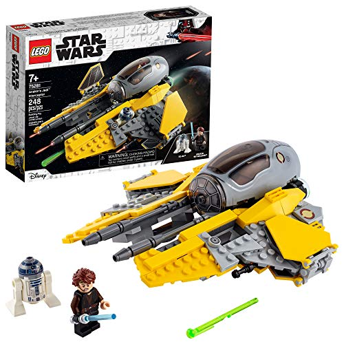 LEGO Star Wars Anakin's Jedi Interceptor 75281 Building Toy for Kids, Anakin Skywalker Set to...