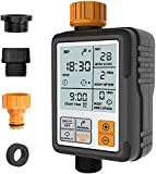 Kazeila Digital Irrigation Timer - Programmable Water Timer Garden Lawn Hose Faucet Sprinkler Water Timer - 3' Large Screen/IP65 Waterproof/Rain Delay/Child Lock Mode/Auto&Manual Mode