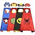 4-Pack Roko Toys Superhero Cape Set