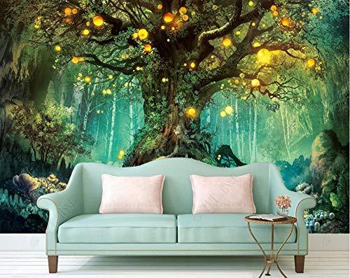 Tapete Fototapete 3D Effekt Zauberwald Wandbild Wandtapete Hauptdekorationen Für Wohnzimmer Schlafzimmer Poster,350x245cm
