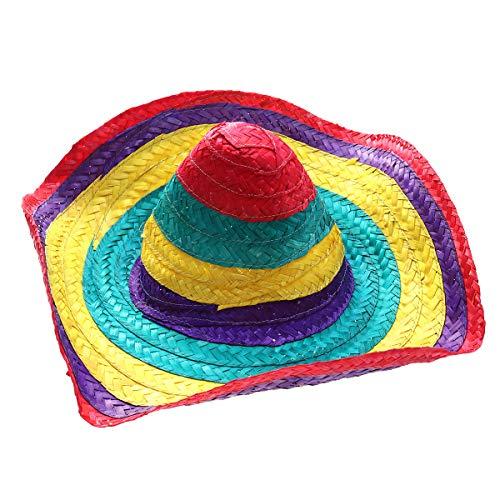 Amosfun Sombrero Sombrero de paja hawaiano mexicano sombrero sombrero de fiesta sombreros para hombres y mujeres