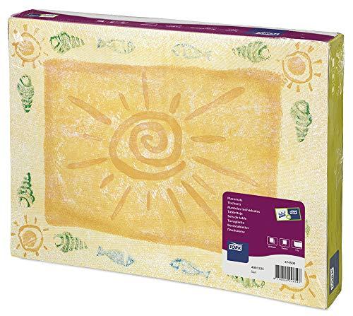 Tork 474500 Sets de table jetables Advanced / un pli - rectangulaire - 42cm x 31cm - 500 items - Imprimé soleil