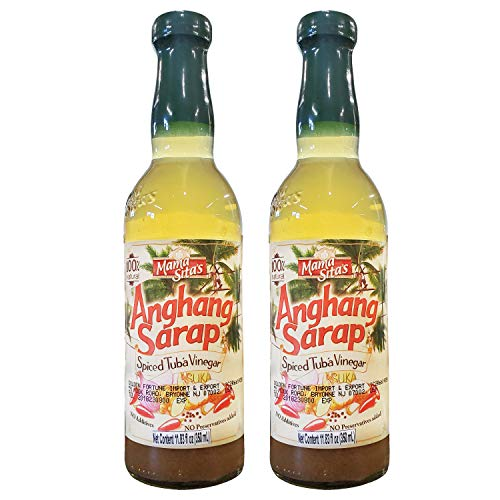 Mama Sitas Anghang Sarap Filipino Spiced Tuba Vinegar (2 Pack, Total of 23.66fl.oz)