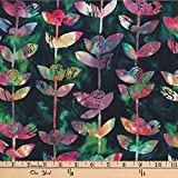 Hoffman 0668215 Bali Batik Block Flower Amazon Fabric