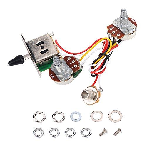 VGEBY Kit de arnés de cableado de Guitarra Interruptor balancín de 3...