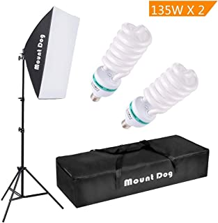 "MOUNTDOG 1350W Photography Continuous Softbox Lighting Kit 20""X28"" Professional.."