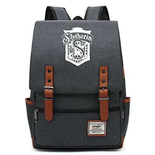Harry P Slytherin school bag, Teenager University Travel Backpack, Fits 15'Laptop Tablet, Boys/Girls Weekend Bag 16 pollici. Colore-11.