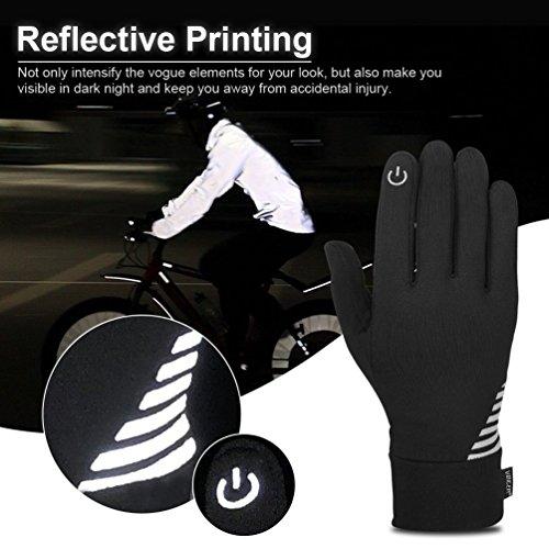 VBIGER Herren Touchscreen Handschuhe Anti-Rutsch Outdoor Sport Handschuhe Fahren Radfahren Handschuhe mit Fleece Liner für Herbst und Frühwinter - 5