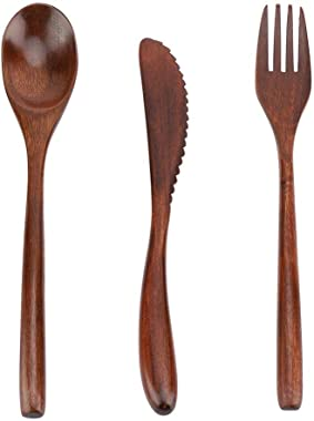 Tableware Kit, Dinnerware Set Reusable, Japanese Style Reusable Bamboo Dinnerware Set Tableware Kit(Dinnerware Set)