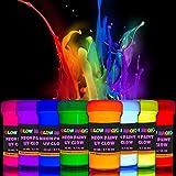 Glow Magic Black Light Paint Set - Set of 8 - Fluorescent Wall Paints – Neon Glow Paints for Blacklights, UV Lights – Glowing Neon Color - 8 x 20 ml / 0.7 fl oz