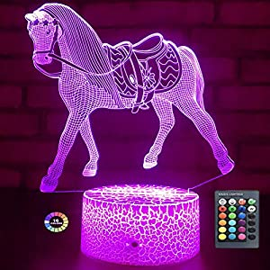 crib bedding and baby bedding menzee horse gifts for girls,horse lamp night light for kids room decor with remote control & smart touch 7 colors horse toys birthday gifts for 2 3 4 5 6 7 8 9 year old girl gifts