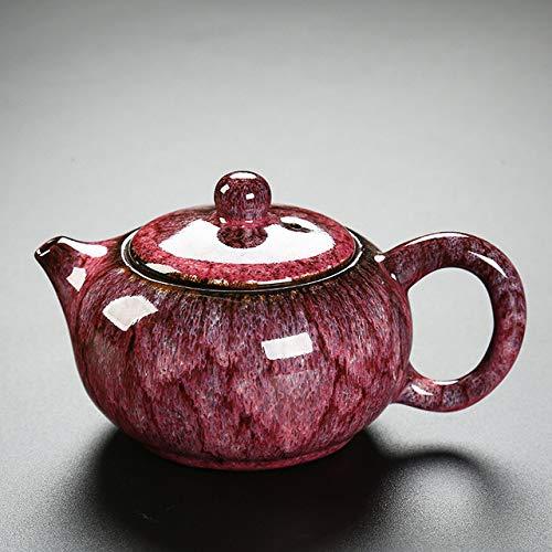 gousheng Tetera Tetera Estilo Retro Tetera de Porcelana Juego de té Tetera Tradicional China de Porcelana Tetera Tradicional casera
