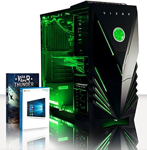 VIBOX Cetus 45 Gaming PC Computer mit War Thunder Spiel Bundle, Windows 10 OS (4,5GHz Intel i7 Quad-Core Prozessor, Nvidia GeForce GTX 1080 Ti Grafikkarte, 32Go DDR3 1600MHz RAM, 240GB SSD, 3TB HDD)