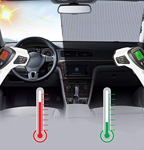 Feng Intrekbare zonschaduw, auto voorruit zonnescherm, gemakkelijk te installeren en te gebruiken, universele auto zon schaduwen Houd uw voertuig koel, 65 CM