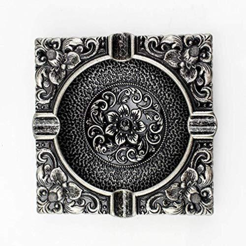 AMITD 3D klassiek brons gesneden handwerk asbak vorm decoratie rokers gereedschap DIY metaallegering sigaret cilinder