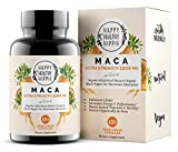 Organic Maca Root Supplement 1200mg  Gelatinized - Fast Superior Absorption - Powerful Peruvian Natural Energizer - Libido, Passion Performance for Women and Men - 120 Maca Capsules and Black Pepper