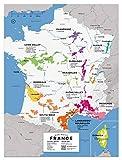 Wine Folly Frankreich Weinkarte Posterdruck 12