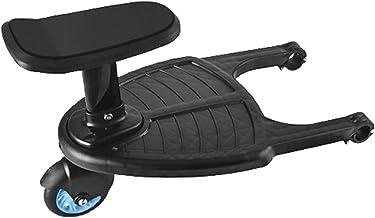 Kinderwagen Ride Board met afneembare stoel, Kinderwagen Ride-on Sliding Gliding Stand Board, Geschikt voor de meeste merk...