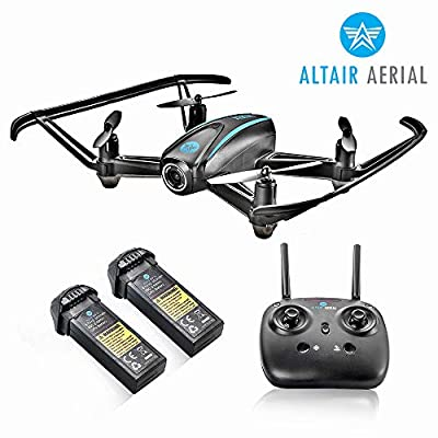 Altair #AA108 Camera Drone Great for Kids & Beginners   Free Priority Shipping   RC Quadcopter w/ 720p HD FPV Camera VR, Headless Mode, Altitude Hold, 3 Skill Modes, Easy Indoor Drone, 2 Batteries by ALTAIR INC