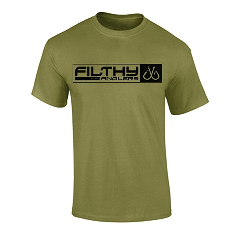 Filthy Anglers Men's Active Fishing American Military Flag T-Shirt - Multiple Colors